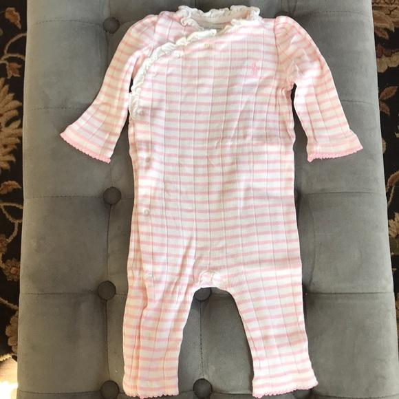Cute Baby Girl Ralph Lauren Pink Overall 6 Months